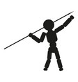 man thrower spear sign black vector image