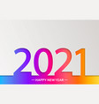 2021 new year bright greeting card in paper style vector image vector image