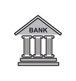 bank icon on white background for graphic and web vector image
