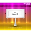 billboard web page vector image