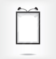 Black frame on wall vector image vector image