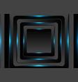 black squares with blue neon light background vector image vector image