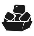 bread box with bread icon simple style vector image