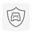 car security icon vector image vector image