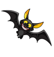 cartoon smiling bat vector image vector image