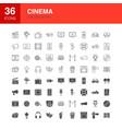 cinema line web glyph icons vector image vector image