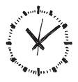 Clock handwritten2 resize vector image vector image