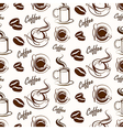 coffee seamless3 vector image vector image