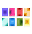 collection colorful covers templates vector image vector image