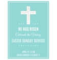 Cross and Flowers Easter Sunday Service Poster vector image vector image