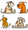 cute cartoon dogs or puppies set vector image vector image