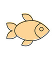 delicious fish isolated icon vector image vector image