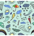 doodle pattern weather vector image