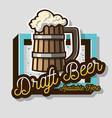 draft beer wooden mug or a tankard beer