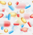 falling pills seamless pattern vector image