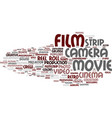 film word cloud concept vector image vector image