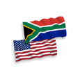 flags republic south africa and america vector image