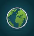Globe world icon vector image