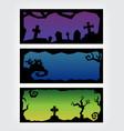 halloween black frame banner set vector image vector image