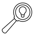 idea magnify glass icon outline style vector image vector image
