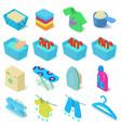 laundry icons set isometric style vector image vector image