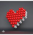 Love heart symbol Design element 3d vector image