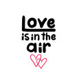 love is in air sign vector image vector image
