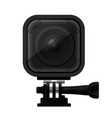 modern compact action camera - extreme sport cam vector image vector image