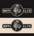 moto club vintage emblem vector image vector image