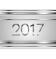 New Year tech silver stripes abstract background vector image vector image