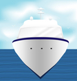 Ocean Liner Cruise Ship Boat at Sea 1 vector image