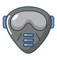 paintball mask icon cartoon style vector image vector image