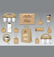 paper pack mockup set vector image