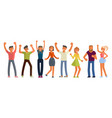 people dancing in flat design vector image