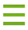 plastic rulers in centimeters inches millimeter vector image vector image