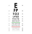 poster card of vision testing for ophthalmic vector image