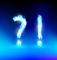 question mark and exclamation mark with a blue vector image vector image
