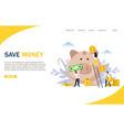 save money website landing page design vector image vector image