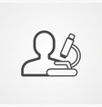 scientist icon sign symbol vector image vector image
