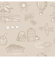 Seamless background Sketch traveling pattern