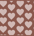 seamless pattern hearts vintage valentines day vector image