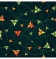 Seamless pattern with clover leaves Dark vector image vector image
