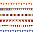 Set of Christmas festive flags on ropes vector image
