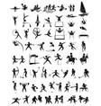 set sport athletes icon vector image vector image