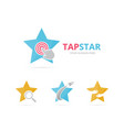 set star logo combination leader and cursor vector image vector image