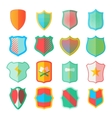 Shield icons set in flat style vector image vector image