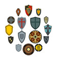 shields icons set flat style vector image vector image