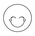 silhouette happy face female emoticon with eyes vector image vector image