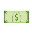 single usd dollar cash money clip art vector image vector image