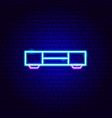 tv table neon sign vector image